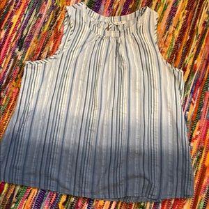 Sleeveless striped top